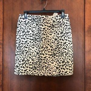 Leopard Mini Skirt with pockets